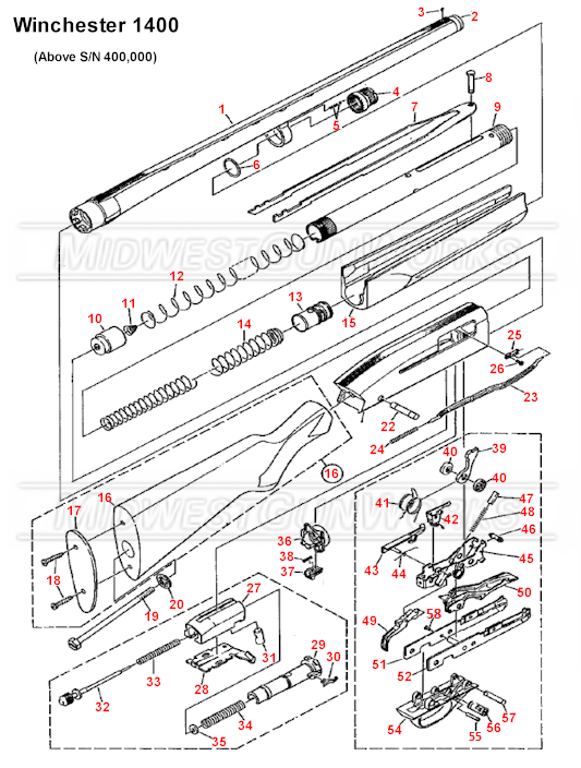Winchester 1400 and 1500 Schematic