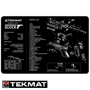 Tekmat Gun Cleaning Mat for Glock 17: Midwest Gun Works