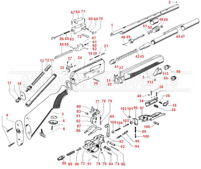 Beretta 301, 302, 303 Schematic
