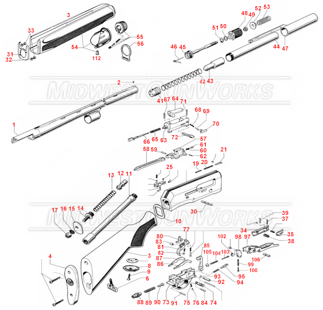 Beretta 390 Schematic