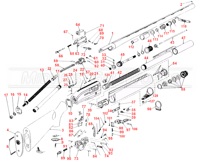 Beretta 391 Schematic