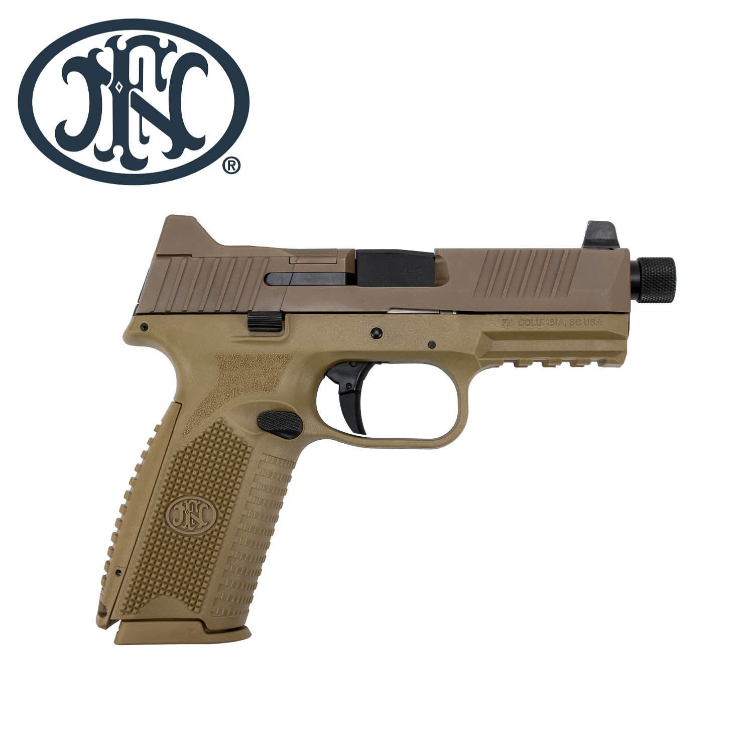 FN 509 Tactical, FDE, (3) 10rd  Magazines: Midwest Gun Works