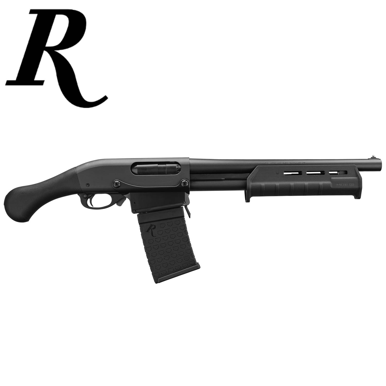 Remington 870 DM Tac-14 12ga  Shotgun, Black Shockwave Grip & Magpul  Forend, 14