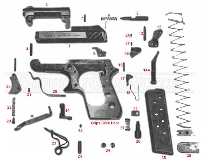 Beretta 950 Schematic