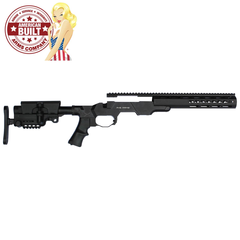 American Built Arms MOD-X Gen III Modular Rifle System, Howa 1500 Short  Action, Black: Midwest Gun Works