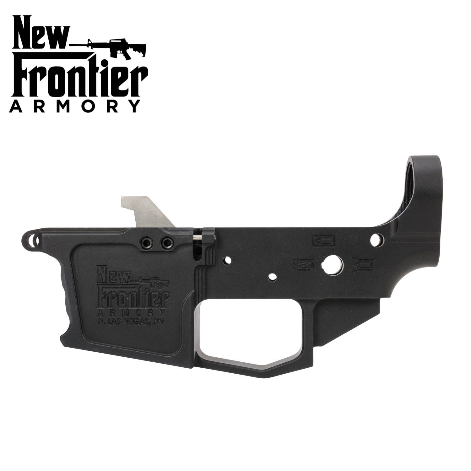 New Frontier Armory AR-9 / 40 Stripped Billet Lower, Glock Style Magazines,  Black: Midwest Gun Works