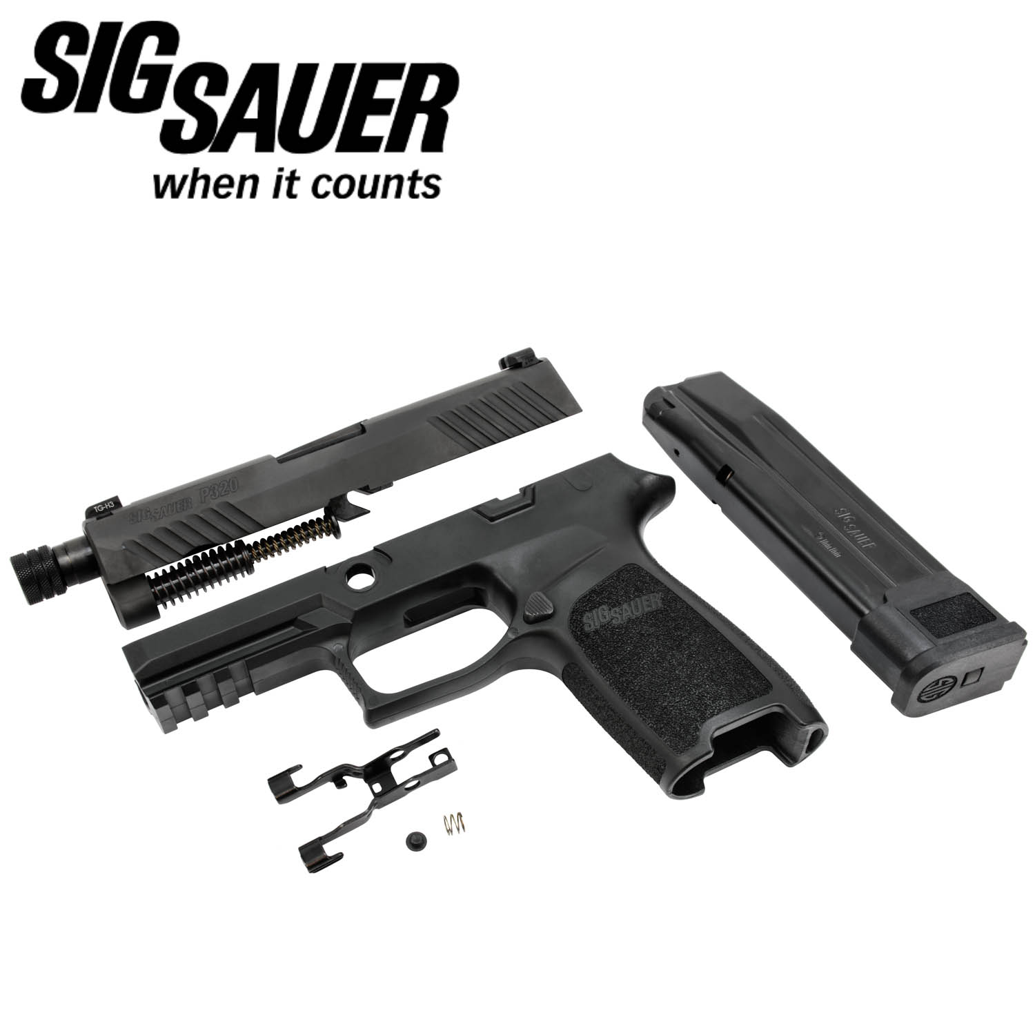 Sig Sauer P320 TACOPS Carry 9mm Caliber X-Change Kit, Threaded, Black:  Midwest Gun Works