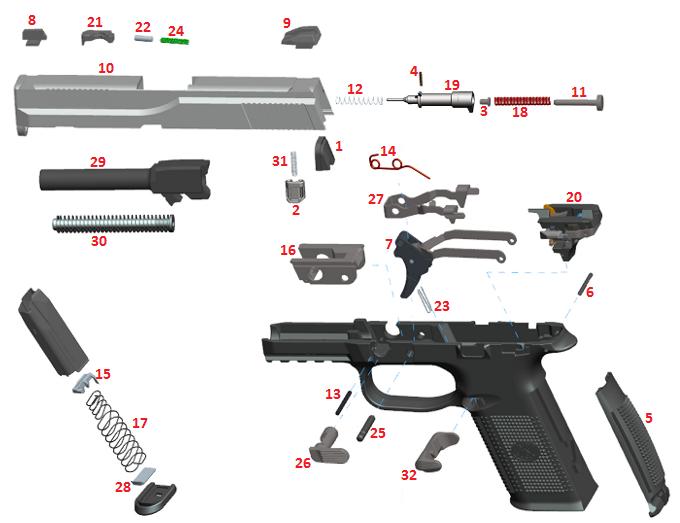 fns gun parts : handgun parts diagram - findchart.co