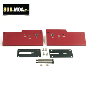 SUB MOA Red Anodized 80% Lower Jig with Steel Inserts: Midwest Gun Works