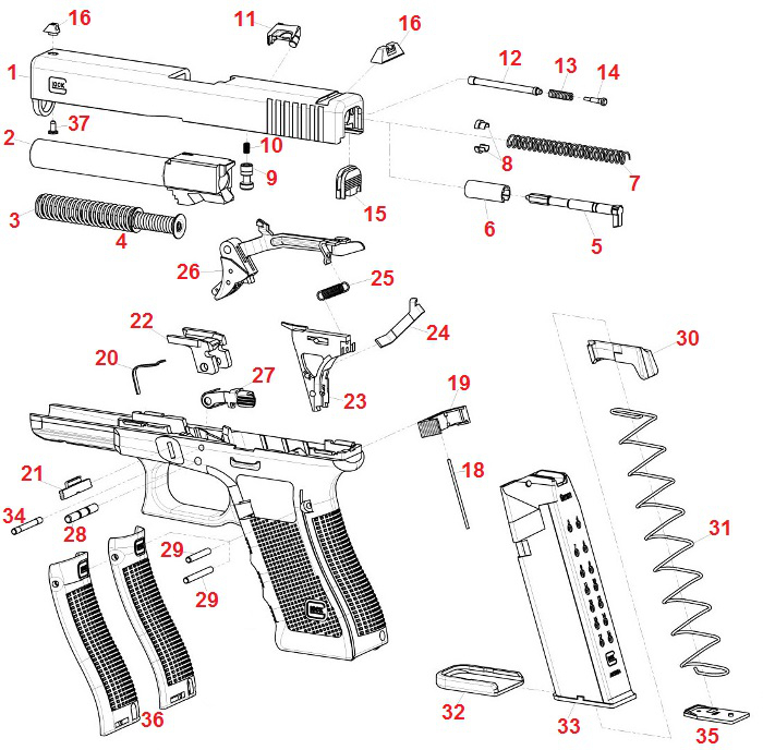 glock gun parts
