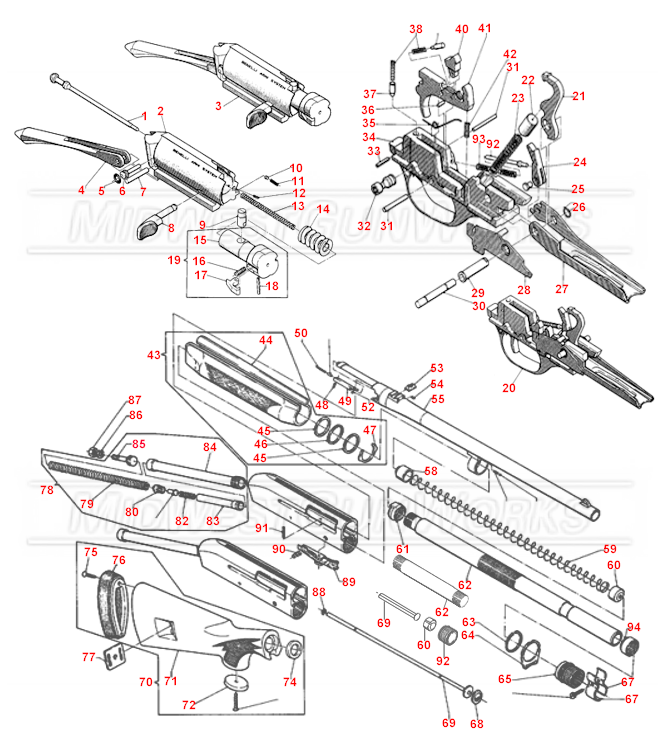 Benelli M1 Super 90 Schematic