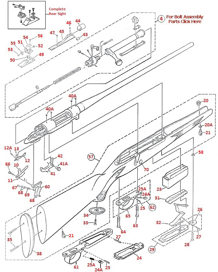 Winchester Model 70 Parts