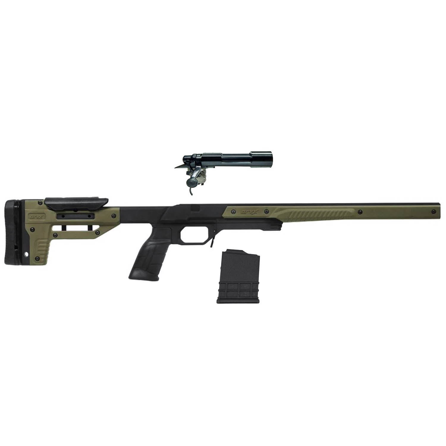 Remington 700 Short Action Receiver + ORYX Chassis + Magazine Kit: Midwest  Gun Works