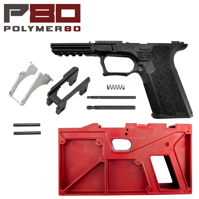 Polymer80 Glock 20/21 80% Pistol Frame Kit, Black: Midwest Gun Works