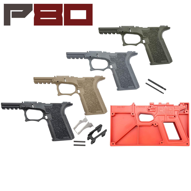 Polymer80 Glock 19/23 80% Pistol Frame Kit, Standard Texture: Midwest Gun  Works