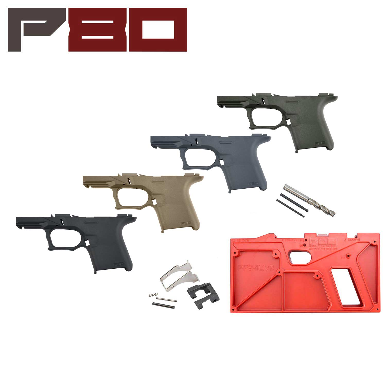 Polymer80 Glock 26/27 80% Pistol Frame Kit, ReadyMod: Midwest Gun Works