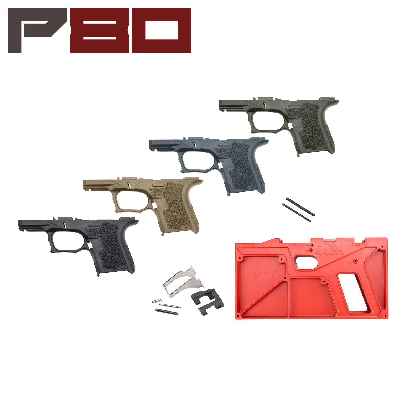 Polymer80 Glock 26/27 80% Pistol Frame Kit, Standard Texture: Midwest Gun  Works