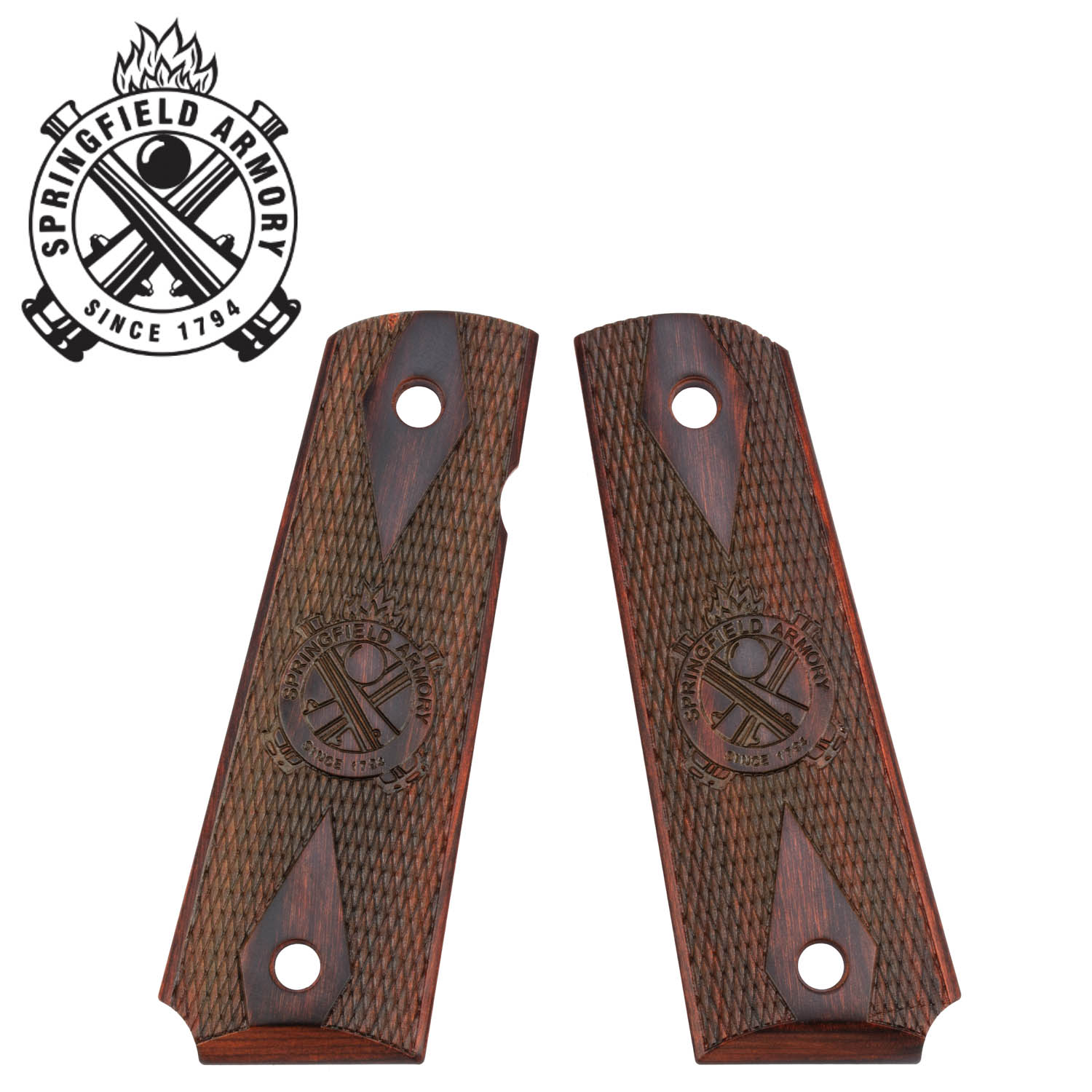 Springfield Armory 1911 Cocobolo Double Diamond Grips with Bevel: Midwest  Gun Works
