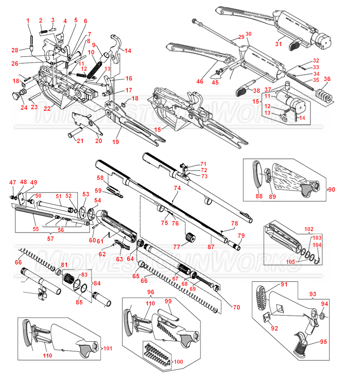 Benelli Super Black Eagle II Schematic