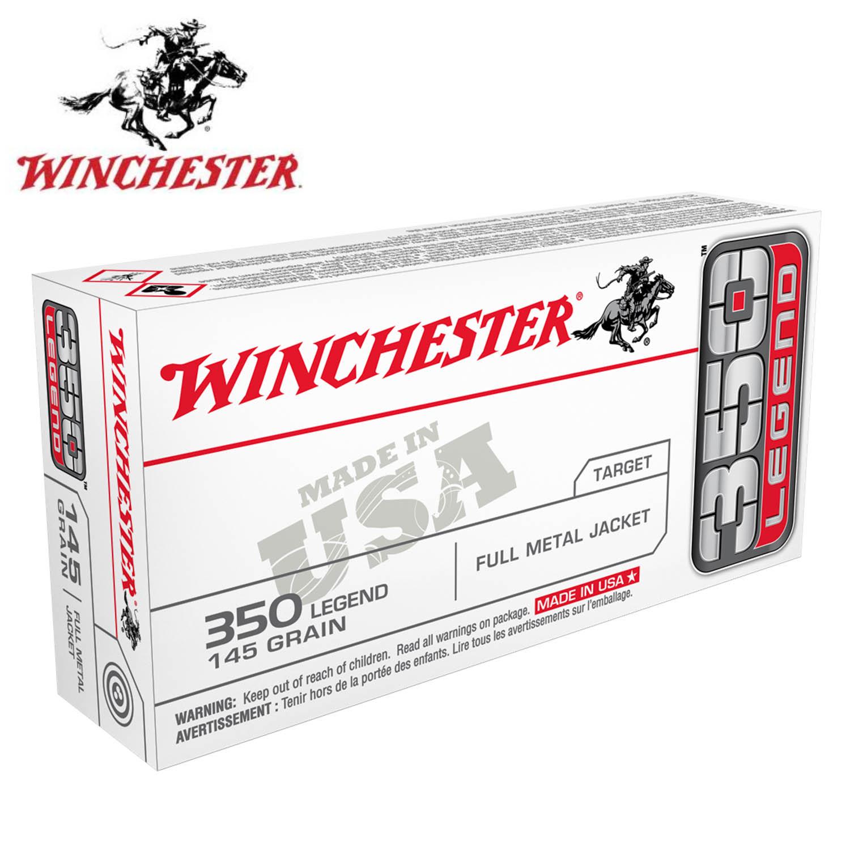 Winchester 350 Legend 145gr  USA FMJ Ammunition, 20 Round Box: Midwest Gun  Works