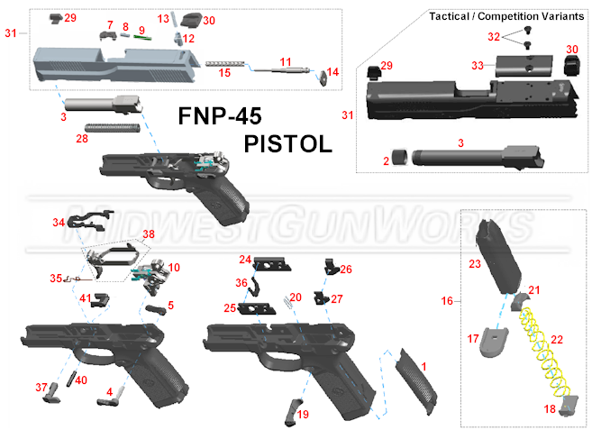 Fn Fnp45 Pistol Parts on smith wesson revolver parts diagram