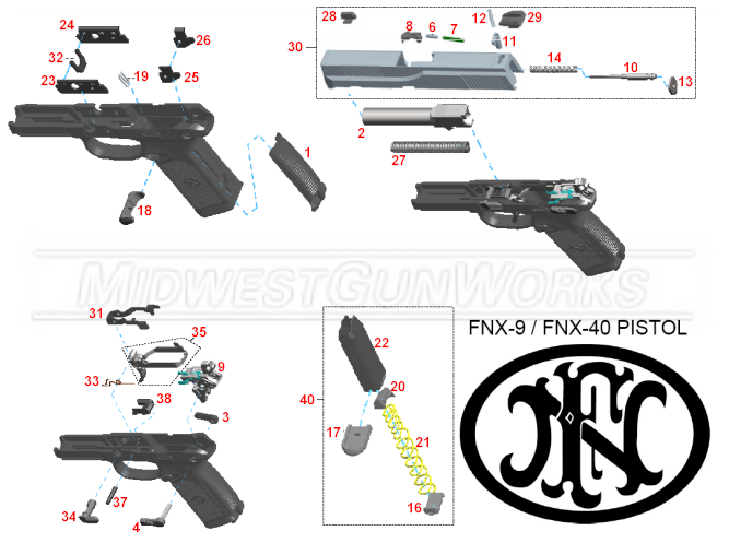 FNX 9 and FNX 40 Schematic