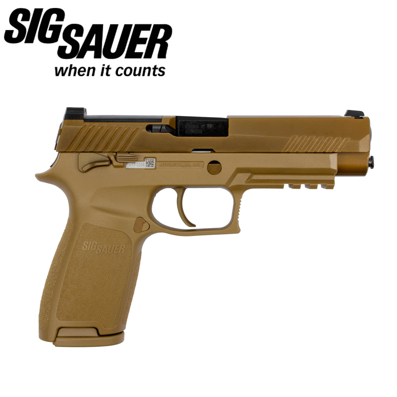 Sig Sauer M17 Commemorative 9mm, 17 Round Magazine, Coyote PVD: Midwest Gun  Works