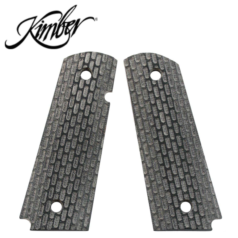 Kimber 1911 Full Size Ambi Grips, G10 Black Warrior Pattern, Mag Well:  Midwest Gun Works