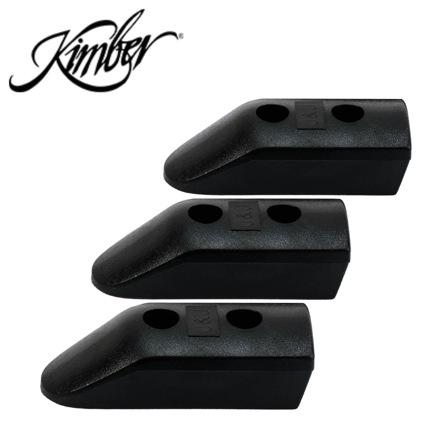 Kimber 1911, Extended Magazine Base Pads, Black, Set of 3: Midwest Gun Works