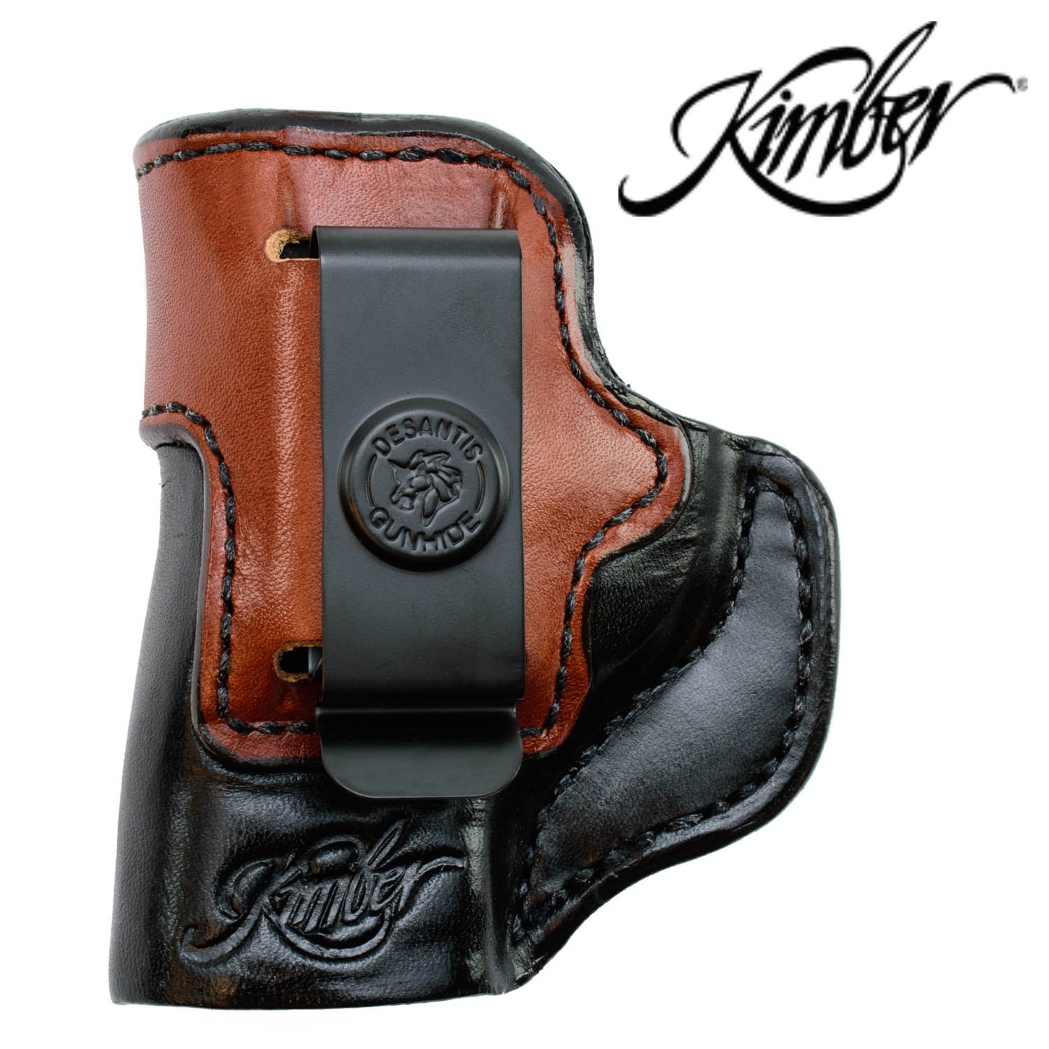Kimber Micro Holster, Inside the Waistband LH Black / Natural Leather:  Midwest Gun Works