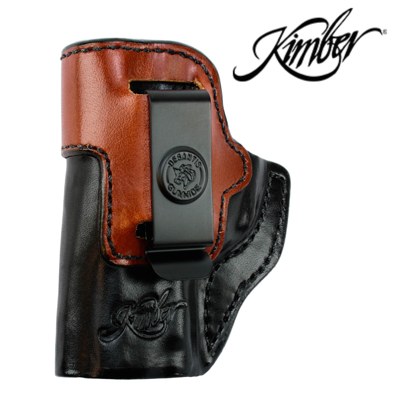Kimber Micro 9 Holster, Inside the Waistband LH Black / Natural Leather:  Midwest Gun Works