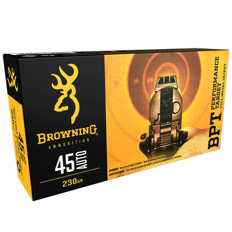 Browning BPT  45 ACP 230gr  FMJ Ammunition, 50 Round Box: Midwest Gun Works